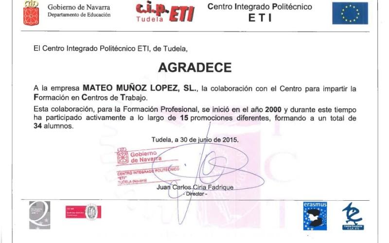 Agradecimiento desde el Departamento de Educación del Gobierno de Navarra